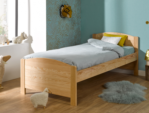 Lit enfant Opale en Pin massif naturel 90x200
