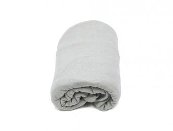 Drap housse 40 x 80 cm Gris Coton