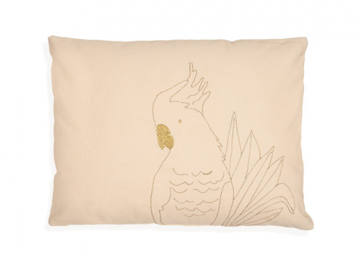 Coussin Brodé Golden Parrot
