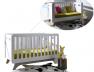 Lit bébé évolutif blanc et lin barreaux Bonheur