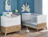 Chambre bébé blanc Hêtre lit commode plan à langer Archipel