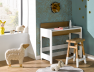 Bureau enfant Scandi 3 positions.