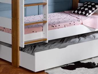 Tiroir de lit superposé 90x190 blanc Scandi