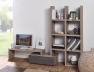 Meuble bas Denver modulable avec la bibliothèque et son support TV.  Le meuble bas est vendu seul.