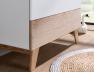 Commode bébé 3 tiroirs Blanc et bois design scandinave