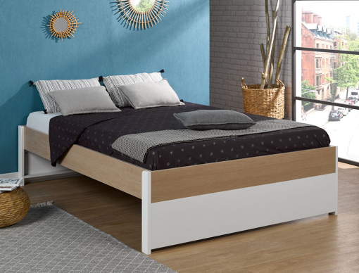 Lit 2 places 140x200 : chambre ado ou parentale, made in France