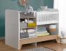 Lit bébé évolutif combiné Calisson blanc et bois