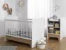Lit bébé évolutif combiné Calisson en position lit bébé 70x140 avec sa table à langer