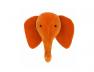 Trophée tête d'éléphant Orange