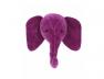 Trophée tête d'éléphant Violet