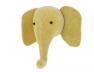 Trophée tête d'éléphant Jaune