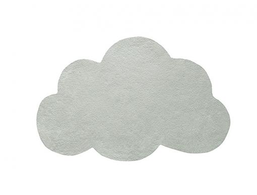 Tapis Nuage vert de gris pour chambre enfant ou bébé