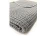 Couverture bébé Grise 50% coton 50% bambou organique