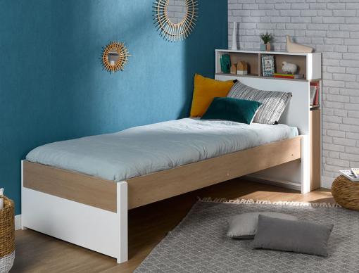 sur chambrekids le lit enfant avec t te de lit et. Black Bedroom Furniture Sets. Home Design Ideas