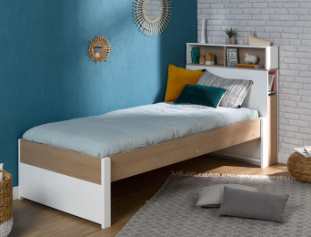 Lit enfant 90x200 avec tête de lit fabriqué en France