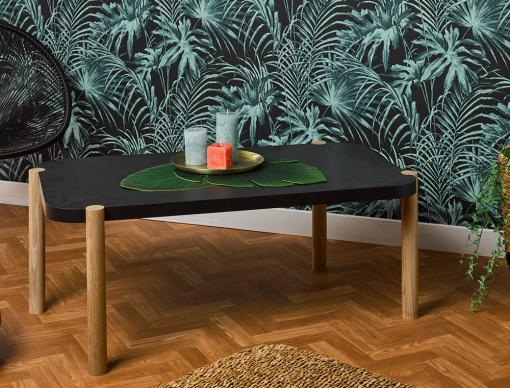 Table basse Eden Chêne naturel et fumé