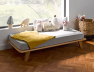 Petit lit banquette Montessori Lune Bois 70x140