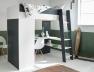 Lit mezzanine + armoire & bureau Opus Blanc & Bleu nuit