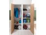 Lit mezzanine + armoire & bureau Opus Blanc & Bois