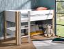 Lit mezzanine 90x190 Natura Blanc & Bouleau. Possibilité de faire un lit mi-hauteur.