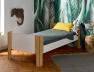 Lit mezzanine 90x190 Natura Blanc & Bouleau. Possibilité de faire un lit bas.