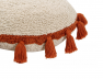 Coussin rond pompon Terracotta