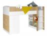 Lit mi-hauteur + bureau & commode Opus Blanc & bois