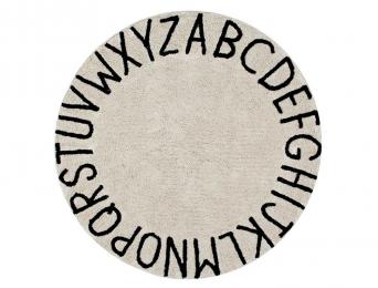 Tapis rond Alphabet Beige Nude