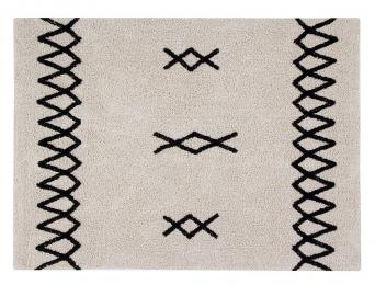 Tapis berbère Blanc et noir 120x160