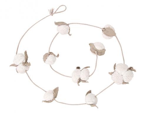 Guirlande décorative Fleurs de coton