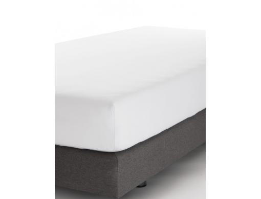Drap housse blanc 90x140cm pour lit évolutif en petite taille.