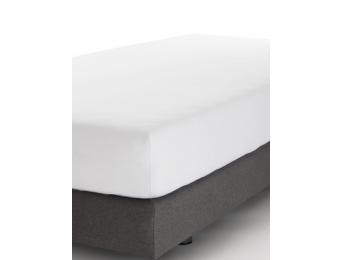 Drap housse blanc 90x190 de fabrication Française