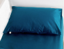Taie oreiller 40x60 Bleu Nuit coton bio