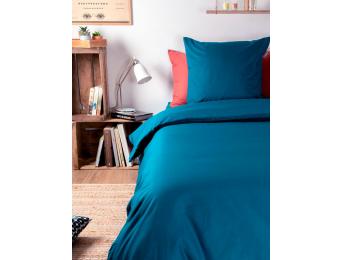 Taie oreiller 60x60 Bleu Nuit coton bio