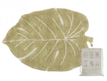 Petit tapis feuille Olive