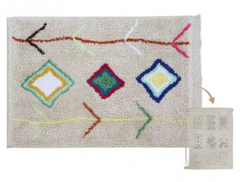 Petit tapis tout doux avec motifs couleurs
