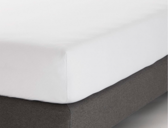 Drap housse 140x200 cm Blanc Jersey Coton Bio