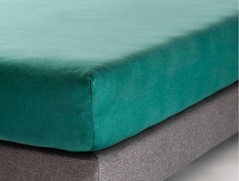 Drap housse 140x200 cm Eucalyptus Jersey Coton Bio