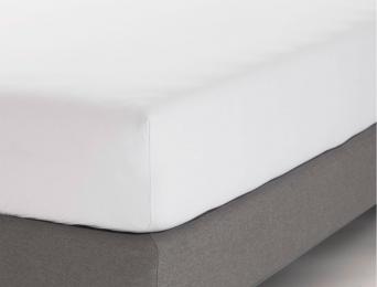 Drap housse 160x200 cm Blanc Jersey Coton Bio