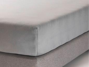 Drap housse 160x200 cm Gris Jersey Coton Bio