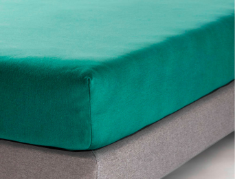 Drap housse 160x200 cm Eucalyptus Jersey Coton Bio