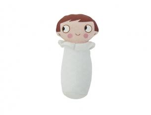 Mini hochet Nioui blanc 8cm