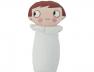 Mini hochet Nioui blanc 8 cm