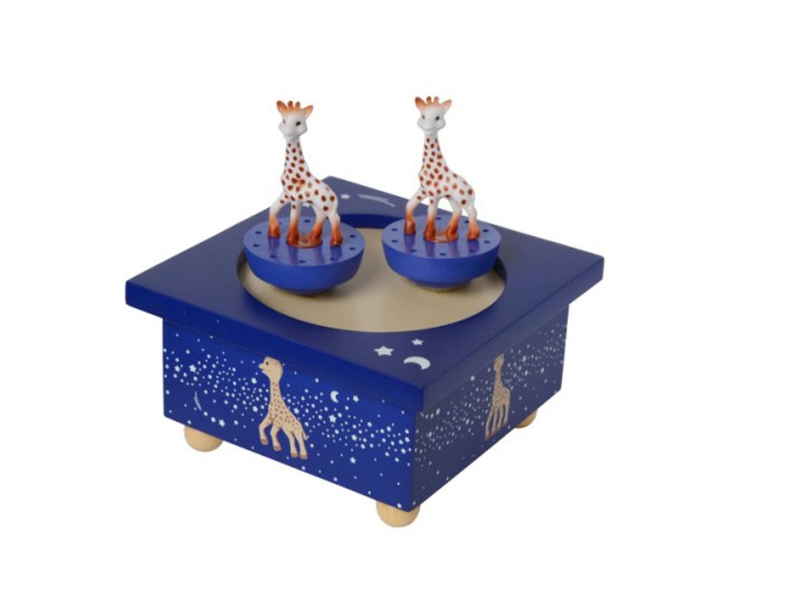 bo te musique sophie la girafe bleu nuit pour chambre de. Black Bedroom Furniture Sets. Home Design Ideas
