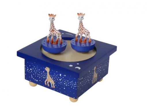 Boîte à musique sophie la girafe nuit