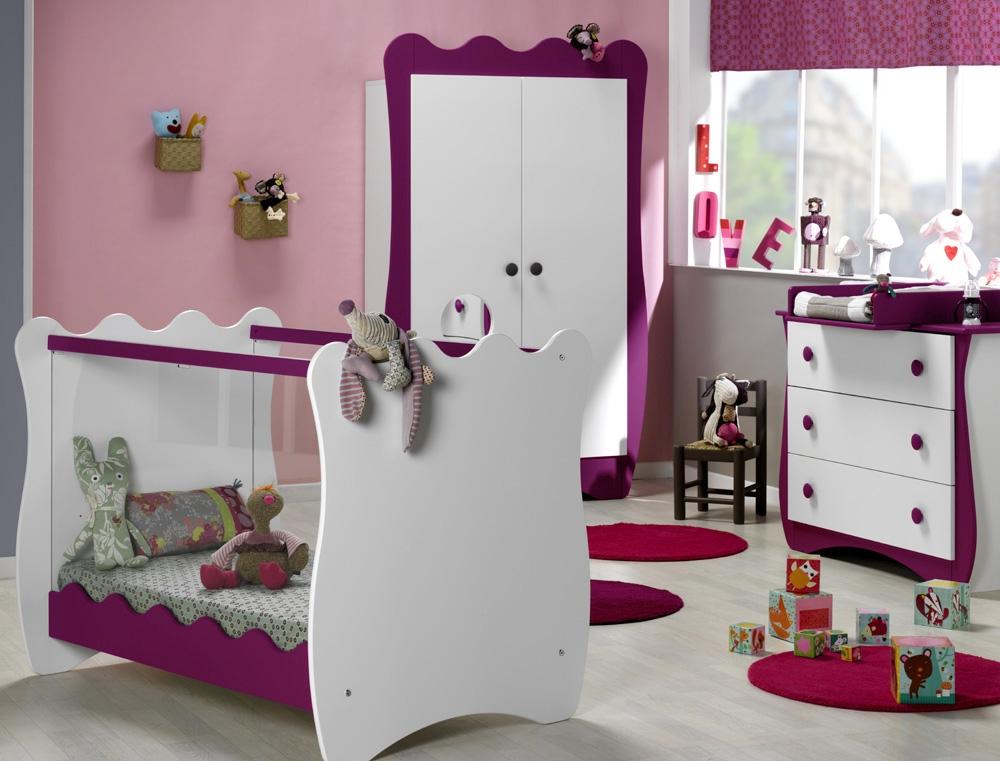 Chambre bébé complète DOUDOU prune par Katherine Roumanoff ...