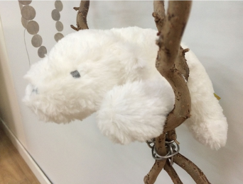 """Ours polaire """"Ice"""" blanc 25cm"""