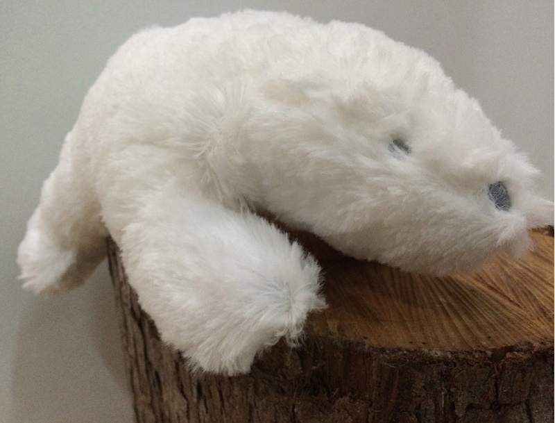 "Ours polaire musical ""Ice"" blanc 29cm"