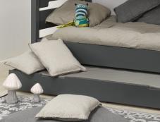 Tiroir du lit superposé Milo anthracite 90x200