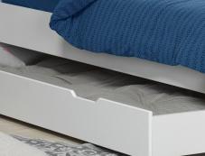 Tiroir du lit superposé Milo blanc 90x200